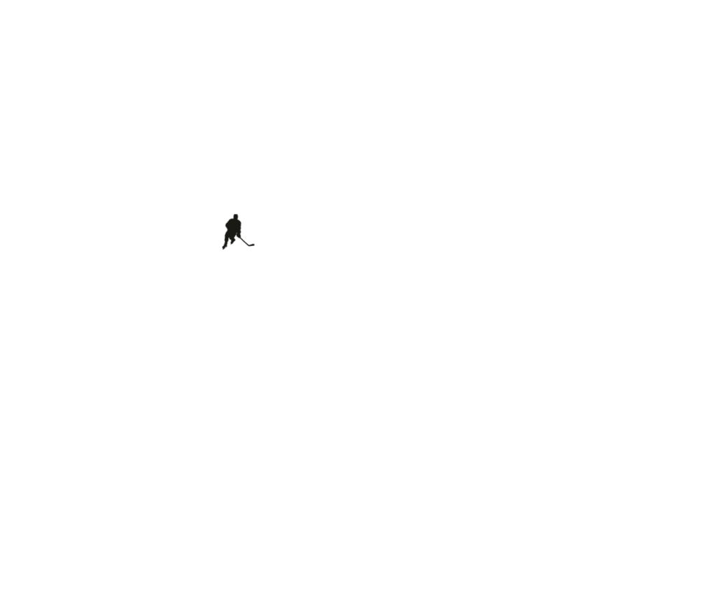 Хоккеист черный — картинка на тачпад