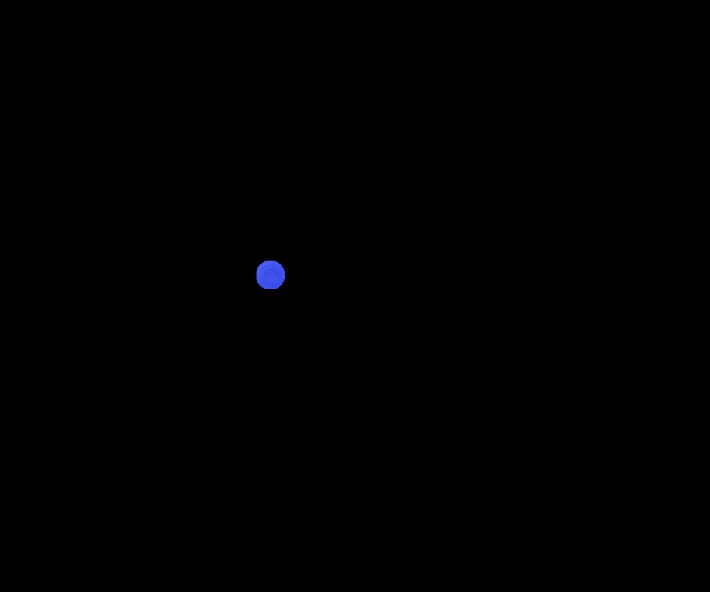 Синий прозрачный