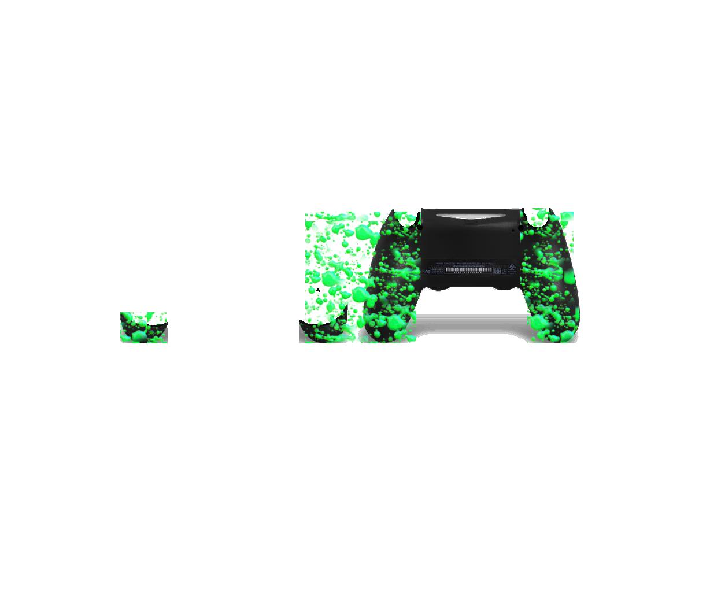 Зеленые 3D капли