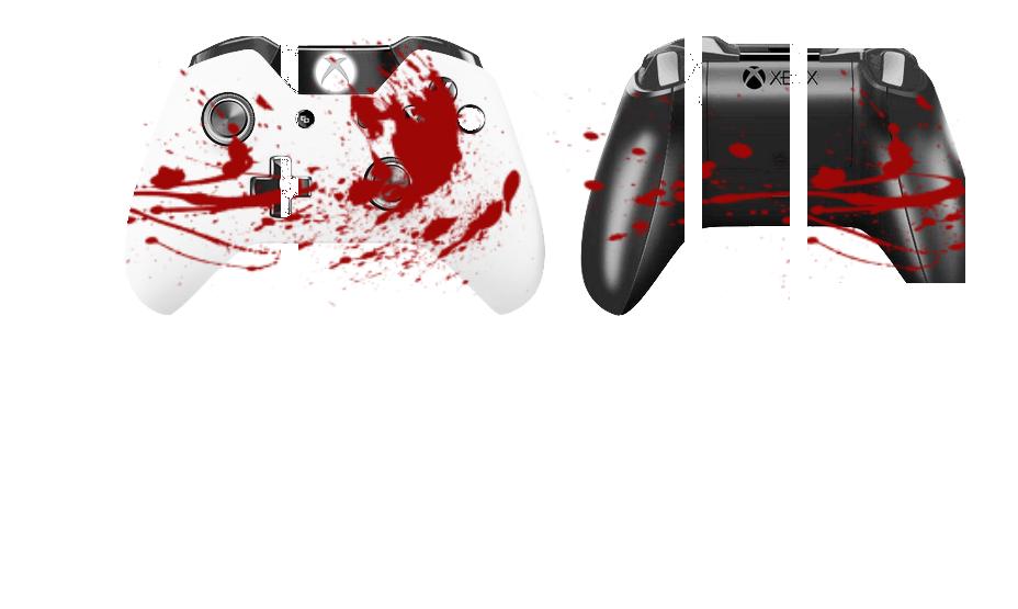 Капли крови на белом