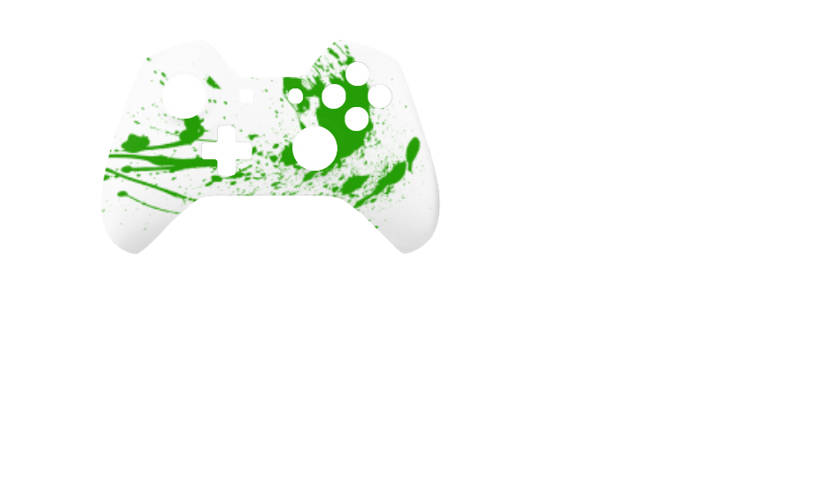Зеленые брызги на белом