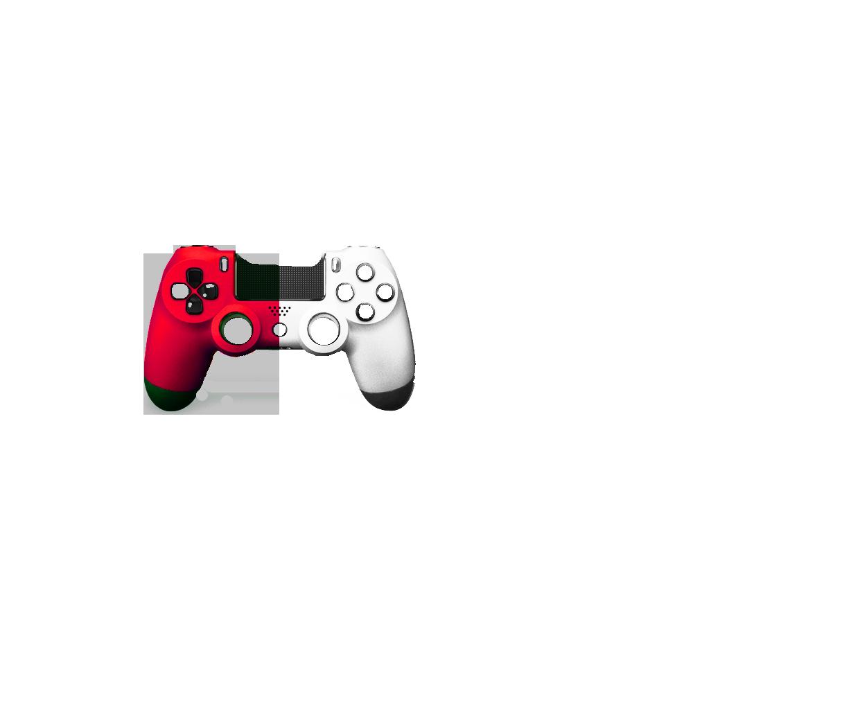 Красная+Белая пополам