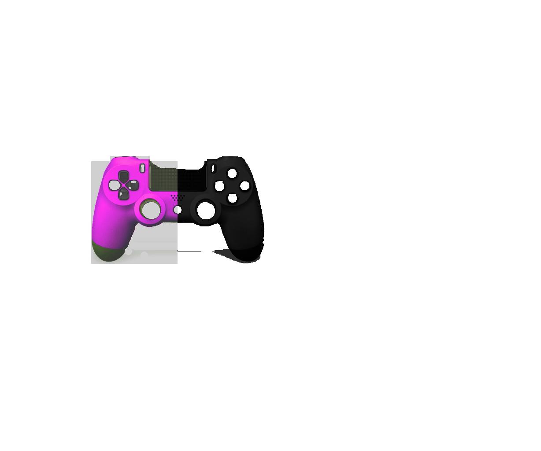 Розовая+Черная пополам