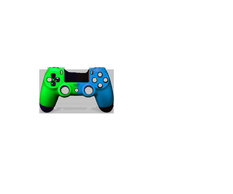 Зеленая+ Голубая пополам