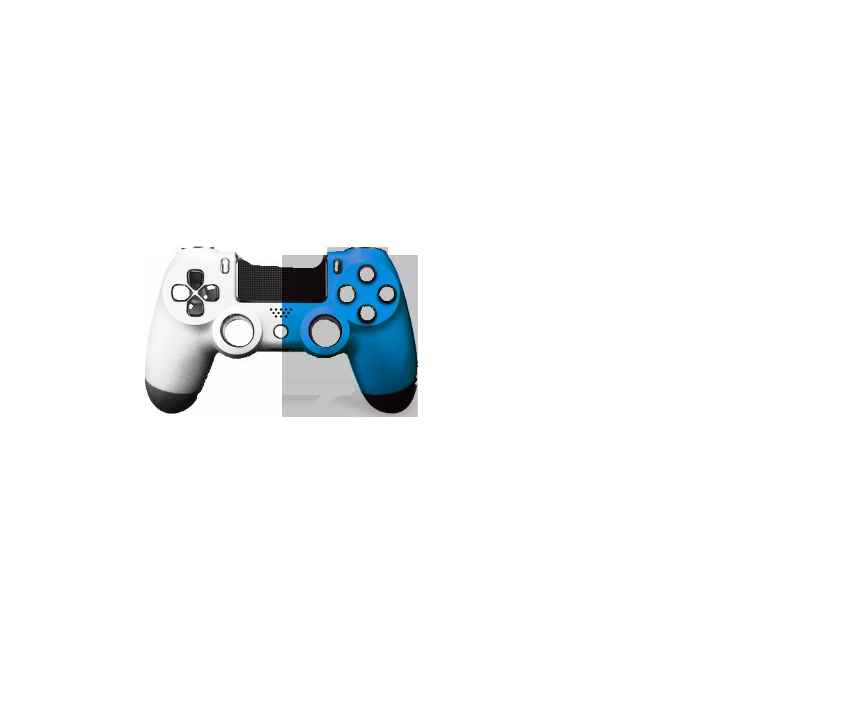 Белая+Голубая пополам