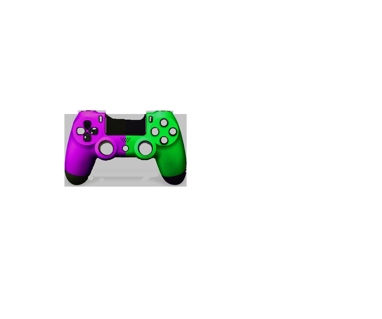 Фиолетовая+Зеленая пополам