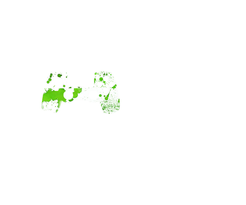 Зеленые капли на белом