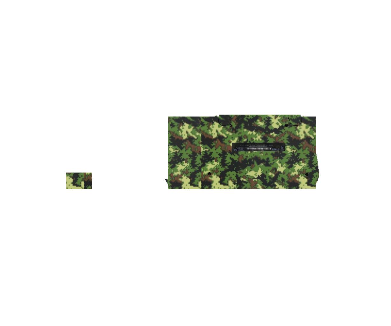 Камуфляж зеленый в квадратик