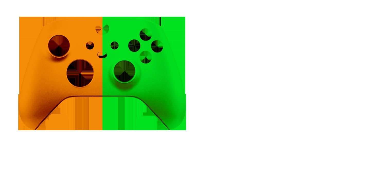 Оранжево-зеленый